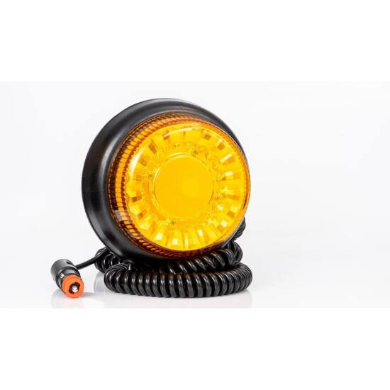 LED Sárga villogó, mágneses rögzítés, 3 m spirál kábel, 12-55V, 25W, FRISTOM FT-100 MAG M30