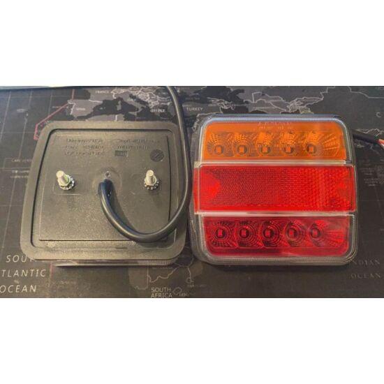 4 funkciós univerzális utánfutó hátsó led lámpa, 105x98x36mm, 12-24V, 0,85-2,2W
