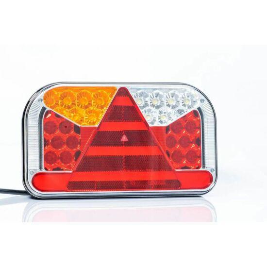 7 funkciós univerzális bal hátsó led lámpa, 240x140x55mm, 12-36V DC,  FRISTOM FT-170 L TB LED