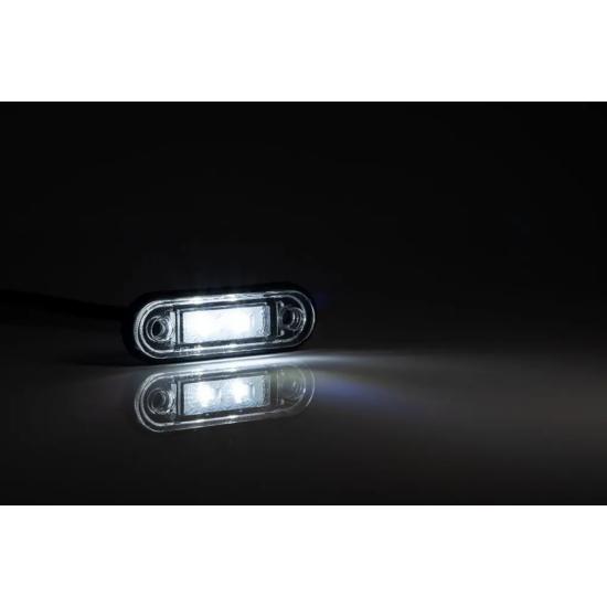 LED szélességjelző FEHÉR 12-24V, 2 LED, 78 x 22mm, Fristom FT-015 B LED
