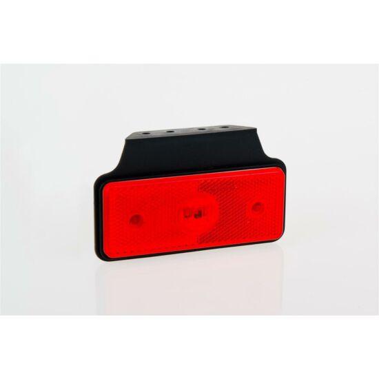 PIROS LED szélességjelző tartóval 12-36V DC, 110x45mm, FRISTOM MD-013 C+K LED