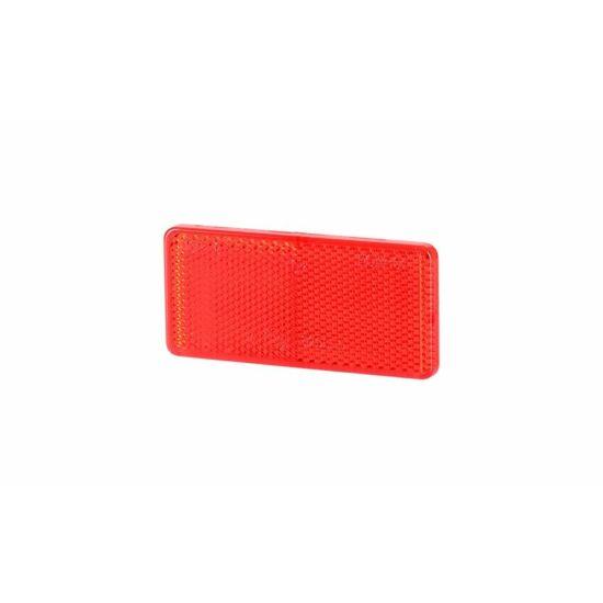 Piros téglalap alakú prizma 94 x 44mm