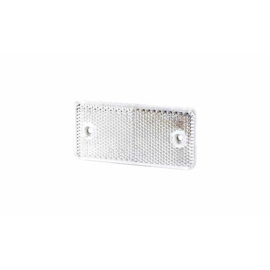 Fehér téglalap alakú prizma, csavaros rögzítéssel, 94 x 44mm