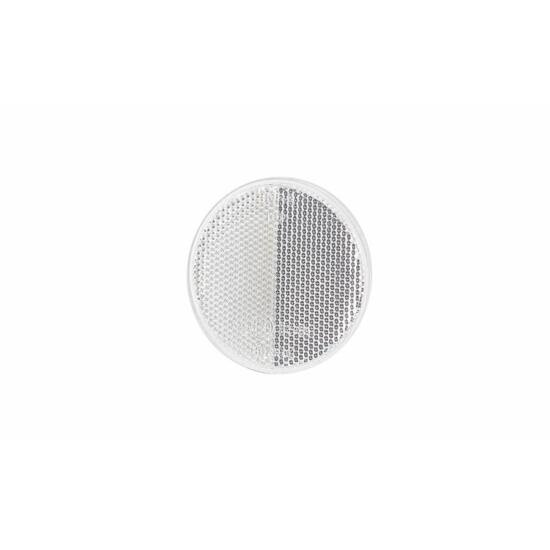 Fehér kerek alakú prizma, csavaros rögzítéssel, ⌀ 78,5mm