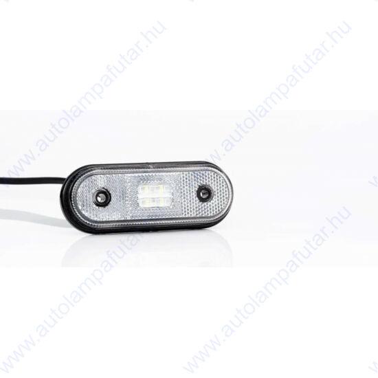 LED szélességjelző FEHÉR 12-36V, 4 LED, sík hátoldalas, Fristom FT-020 B LED