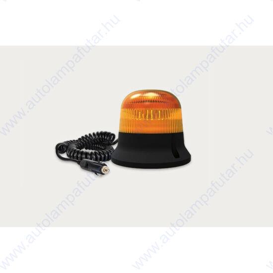 LED Sárga villogó, mágneses rögzítés, 3m spirál kábel, 12-55V, 15W, FRISTOM FT-150 DF MAG M30