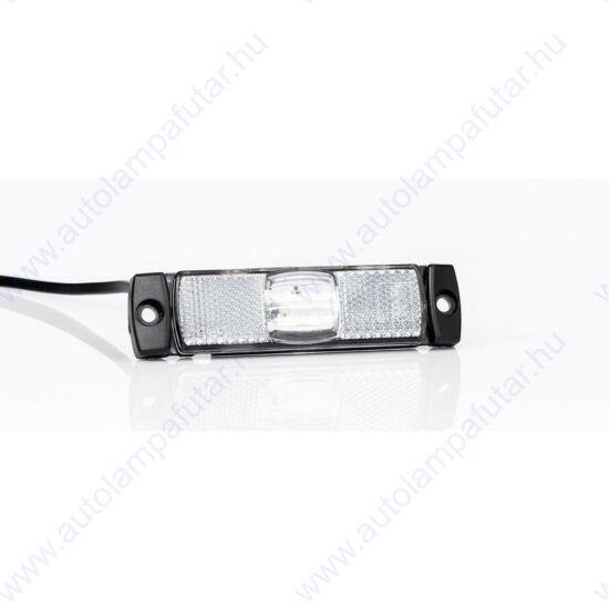 LED Szélességjelző 130 X 32 mm, FEHÉR 12-24V, 4 LED téglalap Fristom FT-017 Z LED