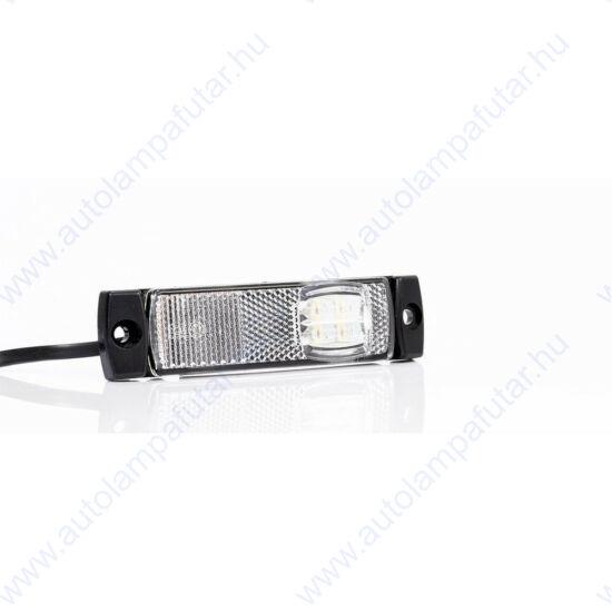 LED szélességjelző fehér 12-24V, 2 LED, 130 x 32mm, FT-018 B LED