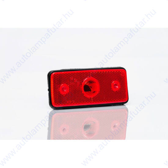 PIROS LED szélességjelző 12-36V DC, 110x45mm, FRISTOM MD-013 Z LED