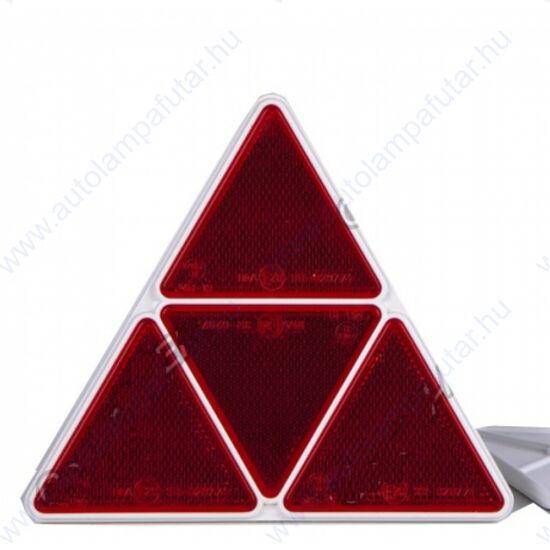 Piros háromszög alakú prizma osztott kerettel 170 x 170mm