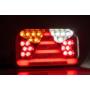 Kép 2/4 - 7 funkciós univerzális bal hátsó led lámpa, 240x140x55mm, 12-36V DC,  FRISTOM FT-170 L TB LED
